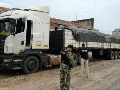 Cae contrabando con 35 toneladas de productos agrícolas