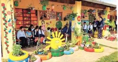 Un jardín  reciclado  en Luque