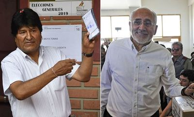 Evo Morales gana comicios pero irá a balotaje