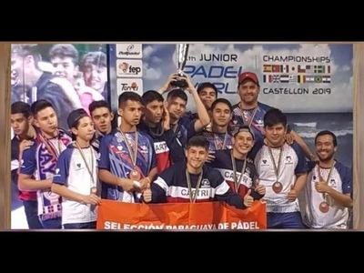 BRONCE PARA LA SELECCIÓN PARAGUAYA SUB 18 EN MUNDIAL DE PADEL