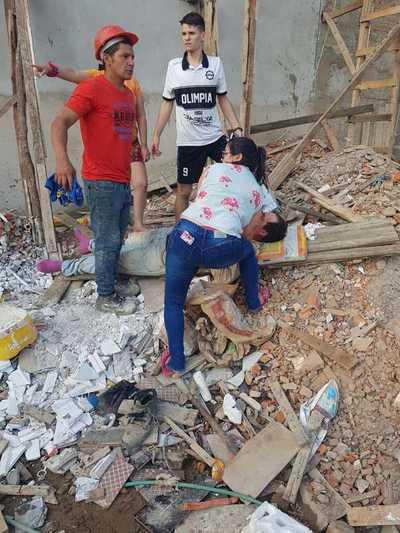 Dirección de Trabajo verifica obra donde cayeron dos trabajadores
