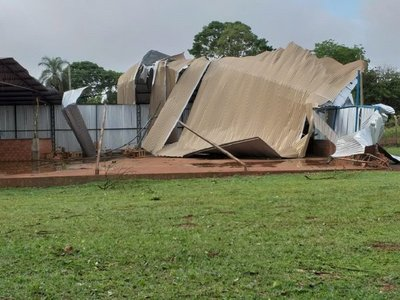 Temporal causa destrozos en colonia de Canindeyú