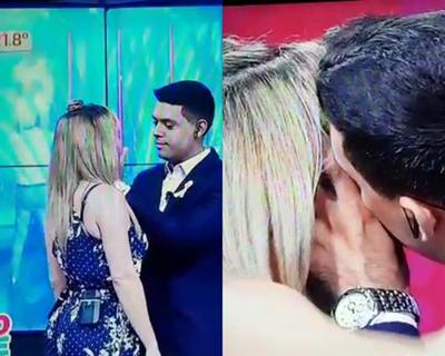 El beso entre Dahiana Bresanovich y Ale López