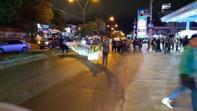 Manifestantes exigen que cese la tala de árboles en el Botánico