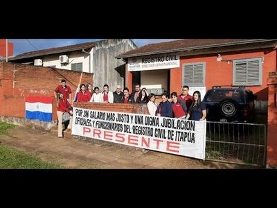 ITAPÚA: FUNCIONARIOS DEL REGISTRO CIVIL VAN A HUELGA POR 30 DÍAS