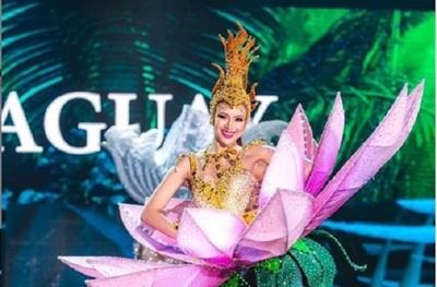 Milena Rodríguez presentó su traje alegórico en el Miss Grand Internacional