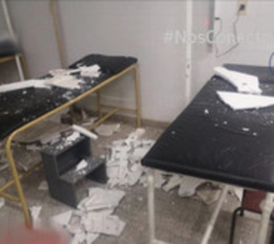 Cae cielo raso en hospital de Yaguarón