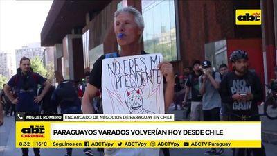 Paraguayos varados volverían volverían hoy desde Chile