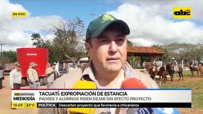 Tacuatí: Expropiación de estancia
