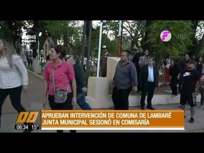 En medio de incidentes, aprueban intervención de la comuna de Lambaré