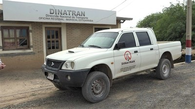 Oficina regional de Dinatran en el Chaco recauda en promedio G. 8 millones