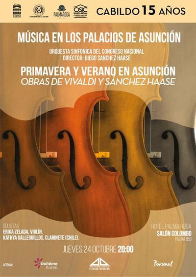 """Presentan última obra del maestro Diego Sánchez en """"Música en los Palacios de Asunción"""""""