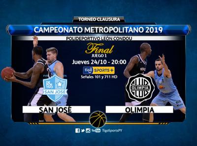 San José y Olimpia arrancan la serie final del básquet