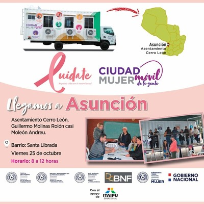 Ciudad Mujer Móvil llegará este viernes al Asentamiento Cerro León de Asunción