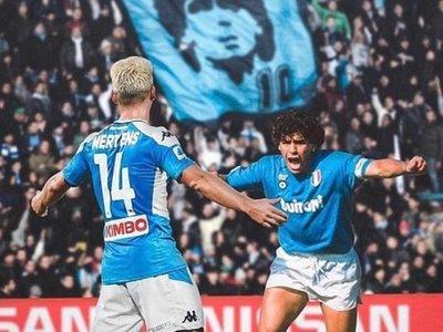 Mertens supera a Maradona