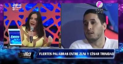 "Zuni Castiñeira explotó contra César Trinidad: ""No me trates de tonta"""