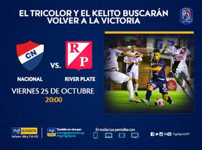 Nacional y River Plate quieren reencontrarse con el triunfo