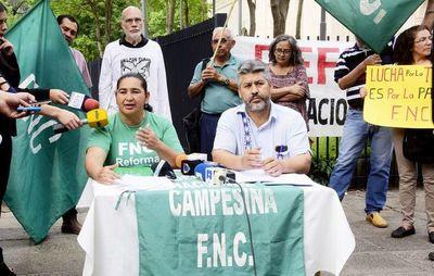 Movilización campesina será en 8 departamentos