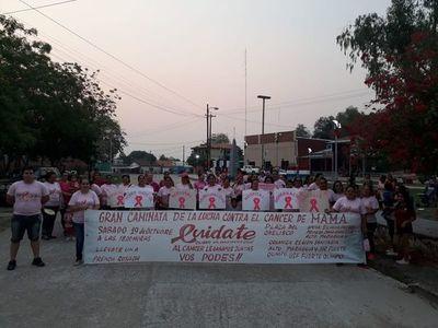 Caminata rosa en Fuerte Olimpo