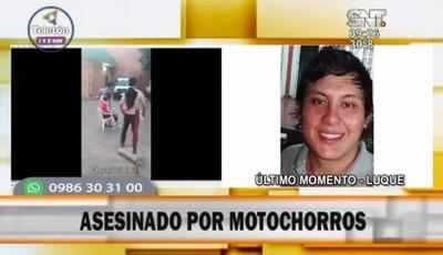 Motochorros asesinan a un joven en Luque