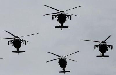 Mueren seis militares colombianos al caer un helicóptero de la Fuerza Aérea
