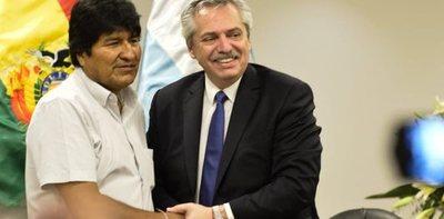 Evo Morales agradece el apoyo de los Fernández tras su triunfo en Argentina