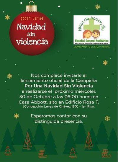 """Lanzamiento de campaña: """"Por una navidad sin violencia"""""""