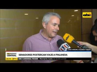 Caso Arrom y Martí: Senadores postergan viaje a Finlandia