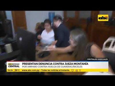 Presentan denuncia contra jueza Montanía
