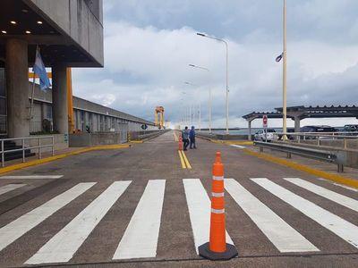 Cerrarán paso fronterizo en Yacyretá este miércoles
