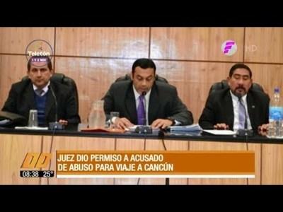 Juez dio permiso a acusado de abuso para ir a Cancún