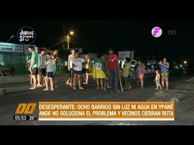 Desesperante: 8 barrios sin luz y agua en Ypané