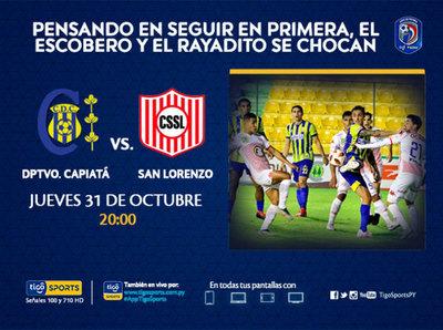 Previa del juego Deportivo Capiatá vs. San Lorenzo