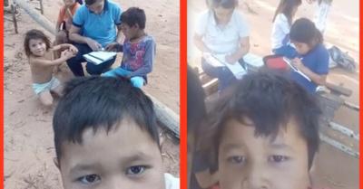 El pequeño nativo que  cautiva con sus videos