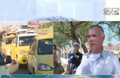 Taxistas se movilizaron en Mariano Roque Alonso