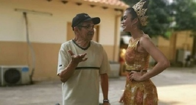 Clara Sosa visitó el hogar de ancianos Santo Domingo