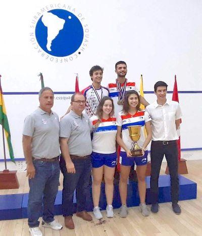 Paraguay arrasó en el Sudamericano Sub 23 de squash