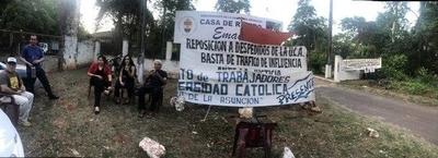 HOY / Sindicalistas protestan contra Narciso Velázquez