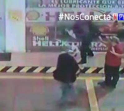 Grupo tipo comando asalta gasolinera en Fernando de la Mora