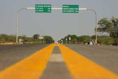 Gobierno rehabilita tramo en el Chaco para aumentar la producción