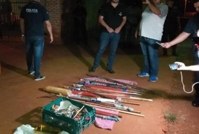 Armas blancas, drogas y celulares son incautados tras allanamiento en penal de PJC