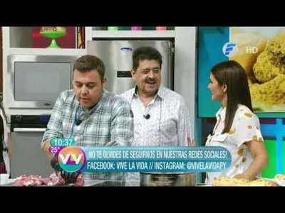 Chicharõ huitĩ y Chipa Paquita en la cocina de Vive la Vida