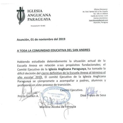 Padres reclaman cierre repentino del escuela anexa San Andrés