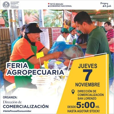 Feria agropecuaria para este jueves