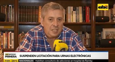 Suspenden contratación de urnas electrónicas por interés político, dice Bestard