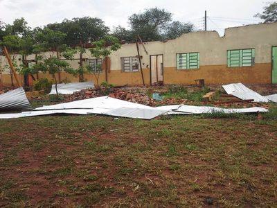 Dos escuelas de San Lorenzo fueron perjudicadas por la tormenta