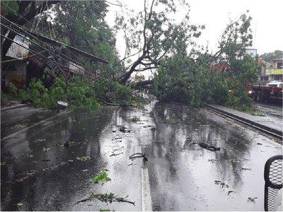 Vientos superaron 100 km/h en Ñemby y Villa Elisa