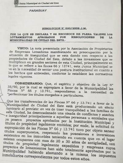Ediles derogan resolución e incentivan nuevas ocupaciones en la ex finca 66