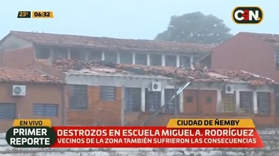 Así quedó el colegio devastado por temporal