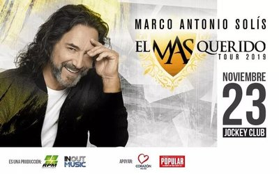 Fans agotan sector alfombra roja para concierto de Marco Antonio Solís en Paraguay